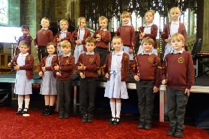 Pupils from Crowhurst SCE Primary School play at a lunchtime concert at  Holy Trinity Hastings Church SUS-190619-102913001