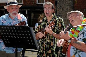 The Buckingham Ukelele Group entertain crowds as part of the Buckingham Civic Day