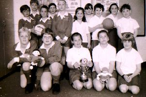 Walcott School football and skittle teams in 1994. EMN-190625-152630001