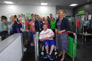 Paralympian Kieran Tscherniawsky and Coun Lindsey Cawrey official open the refurbished Better Gym in Sleaford. EMN-190907-093416001