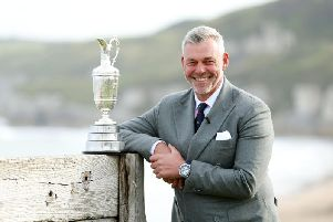 Darren Clarke will his the first tee shot at the 148th Open Championship at Royal Portrush