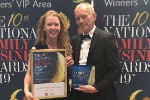 Rachel and Adrian Tweedale, co-directors at The Elite Fish & Chip Company which won the national food and drink Family Business of the Year award at this year's Family Business Awards. EMN-190716-171834001