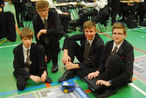 Students from Carre's Grammar School programming robots during their STEM day. EMN-190716-003516001