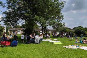 A scene from the picnic organised by pupils of Brown's CofE Primary School.