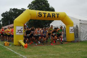 The start of the Heckington Show 10 mile road race.
