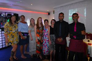 Friends, family and managers of the Agra in Sleaford at the Millie's Ocean Clean Up fundraising buffet event. EMN-190726-230744001