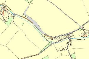 The site location within Stainton le Vale is highlighted in red on the map above
