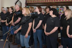 Take Note Choir performing at the Choirs Galore event during Sleaford Live. EMN-190409-142709001