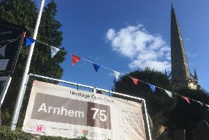 Arnhem exhibition at St Vincent's Church, Caythorpe for heritage Open Days. EMN-191009-105446001