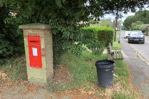 The old post box at Ewerby before removal. Residents currently have to travel to the next village to post a letter. EMN-190917-113236001