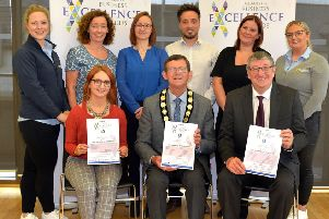 Some of those who attended the launch of the Mid Ulster Business Excellence Awards. INMU34-209