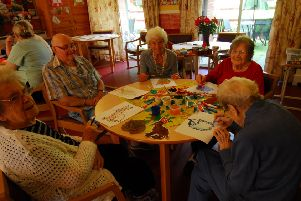 Ashdene residents busy with their works of art. EMN-190923-232932001