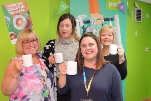 Hoping to raise money for Macmillan and awareness about the Share Lives caring service. From left - Jo, Stacey, Toni and Sally at PSS. EMN-190923-225716001