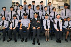 The latest intake of graduates at Sleaford Air Cadets. EMN-190923-214935001