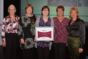 Receiving their highly commended award - Friends of Metheringham Airfield. EMN-190110-180228001