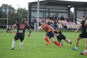 Action from Borough (in possession) v Rugby Lions. Photo: David Lowndes.