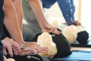 CPR training in Sleaford by St John Ambulance. EMN-191010-173623001