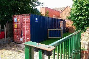 The shipping container behind EDS B & B. Photo: NKDC