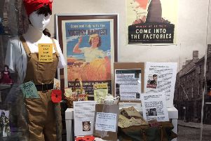 The wartime display at Sleaford Museum in readiness for Remembrance Sunday. EMN-191029-124105001