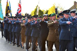 Remembrance parades will continue in Sleaford and Skegness thanks to assistance and training from county highways and police. Photo: Mick Fox EMN-190711-151337001
