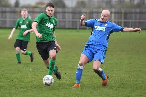 Kieran Wiles in possession for Sleaford's reserves side EMN-191111-170341002