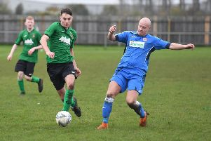 Kieran Wiles in possession for Sleaford's reserves side