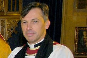 Rev Philip Johnson of St Denys' Church, Sleaford. EMN-191115-121806001