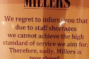 The notice at Millers. EMN-191119-131106001