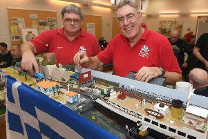 Sleaford and District Model Railway Society charity modellers show at Ruskington Village Hall. L-R Eddie King - charity exhibition manager, Mark Bamford - club chairman. EMN-191118-095544001