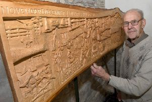 John Lord of Hough on the Hill, awarded BEM for services to the community. Pictured with his wood carvings in the village church. EMN-191230-133922001
