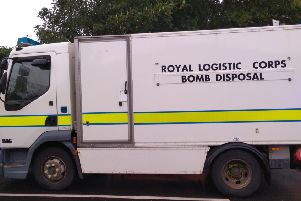 A bomb disposal unit like this one attended Potterhanworth to deal with suspected mortar bombs, flares and grenades. EMN-200121-132305001