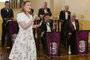Miller Magic playing at Sleaford Masonic Rooms  last year with singer Nikki Keetley. Picture: David Dawson. EMN-200121-141257001