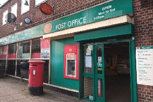 Sleaford's town centre post office - due to close next Wednesday. EMN-200402-103242001