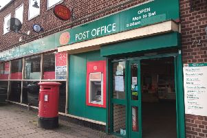 Sleaford's town centre post office - closing today, Wednesday. EMN-200402-103242001