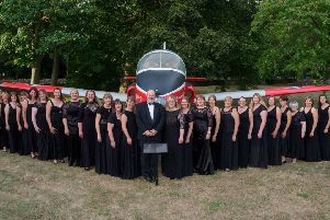 Cranwell Military Wives Choir. Picture: Stephen Radley. EMN-201002-153813001