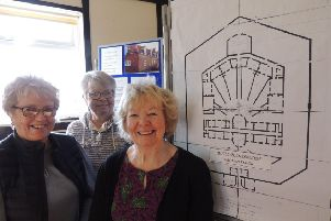 From left - Rae McMillan, Sue MacKenzie and Lis Wright of Folkingham Past and Present group. EMN-201102-131808001