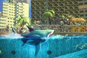 Hungry Shark World on console supports 4k display