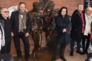 Steve Hogarth at the statue opening earlier this year