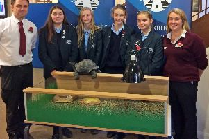 Chailey students with their new exotic pets