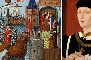 Henry VI came to the throne aged just nine months in 1422. Regents ruled England until Henry was old enough to take charge. The painting (left) depicts him en route to also being crowned the infant King of France in 1431. Henry's reign was marked by wars and rebellions supported by many Sussex yeomen. SUS-190502-161850001