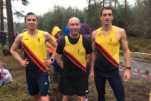 The BADAC cross country counters, with Chris Cope pictured right.