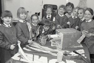The fiery world of dragons was brought to life by youngsters at Bicker's Early Years Preparatory School 20 years ago as part of activities designed to coincide with Chinese New Year. They were helped by Blackfriars outreach worker Tracy Simpson.