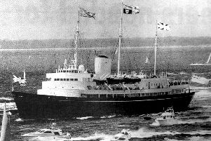 Senior naval officers were unhappy about plans for the Royal Yacht Britannia in 1996.
