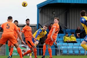 Gosport's Tony Lee was sent off. Picture: Chris Moorhouse