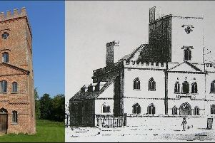 A 1785 drawing of Laughton Place five miles from Lewes. Home to the illustrious Pelham family from 1534, after some three centuries the isolated house fell into decay until just the central tower remained. This was saved from destruction in 1979 and cleverly converted into a unique holiday letting (above left). SUS-190503-171119001