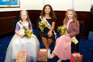 Carnival Court 2018 (left to right in photo) Princess Maiya, Senior Princess Nicole and Princess Alannah.