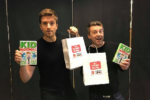 BBC Radio 1's Greg James and Chris Smith were in Hastings celebrating their new book