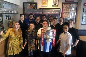 The Picture House team with the FA Cup