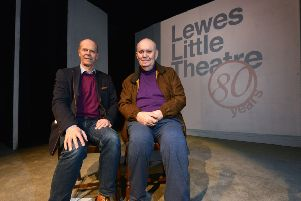 Sharing the stage ... Sir Alan Ayckbourn (right) and his son Philip