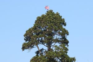 The Union Jack flag was spotted this morning